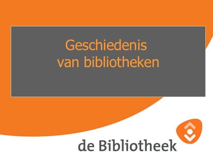 Presentatie oude bibliotheken en terschelling