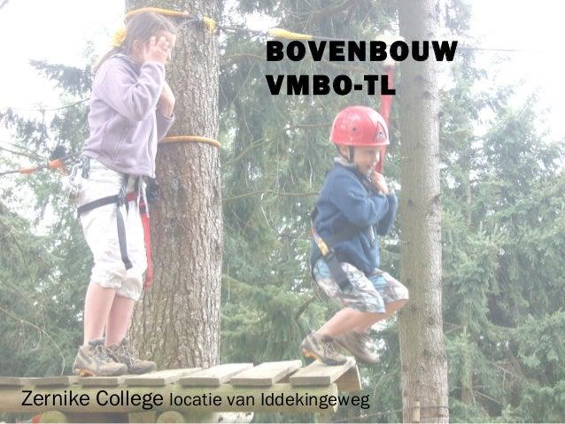 BOVENBOUW                            VMBO-TLZernike College locatie van Iddekingeweg