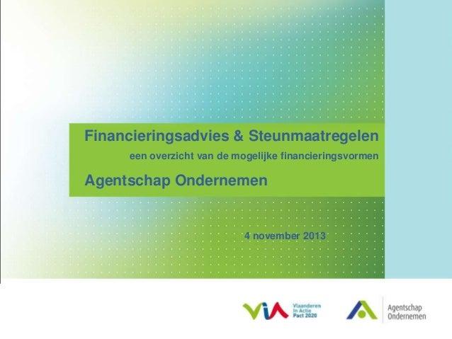 Presentatie financieringsmogelijkheden patrick de molder