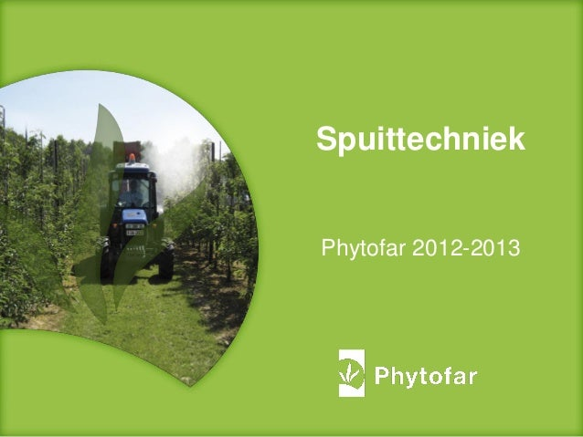SpuittechniekPhytofar 2012-2013