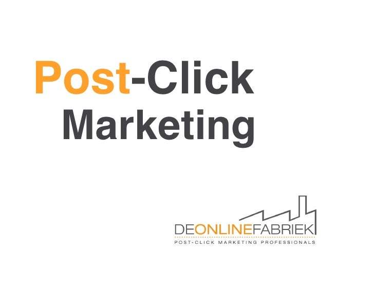Post-Click MarketingPresentatie Pragma