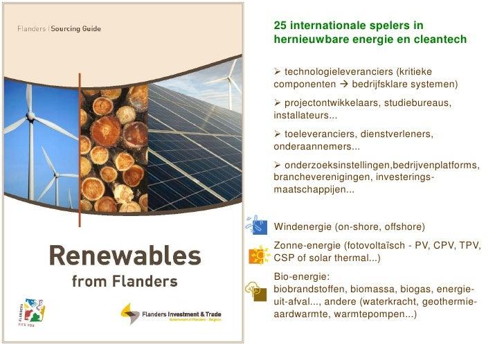25 internationale spelers in hernieuwbare energie en cleantech   technologieleveranciers (kritieke componenten  bedrijfs...
