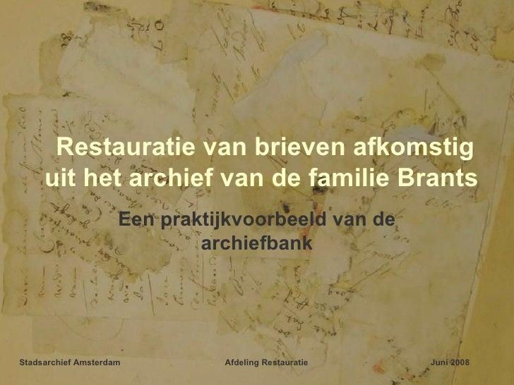 Restauratie voor archiefbank