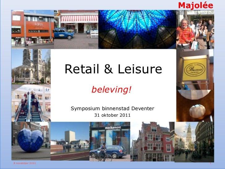 Presentatie Retail & Leisure tijdens Symposium Deventer Binnenstad 2020