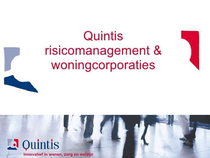 Quintis risicomanagement & woningcorporaties