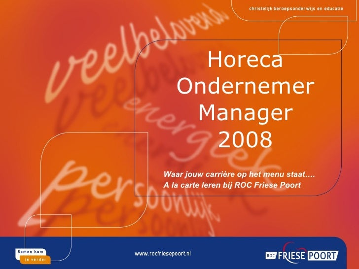 A la carte leren bij ROC Friese Poort