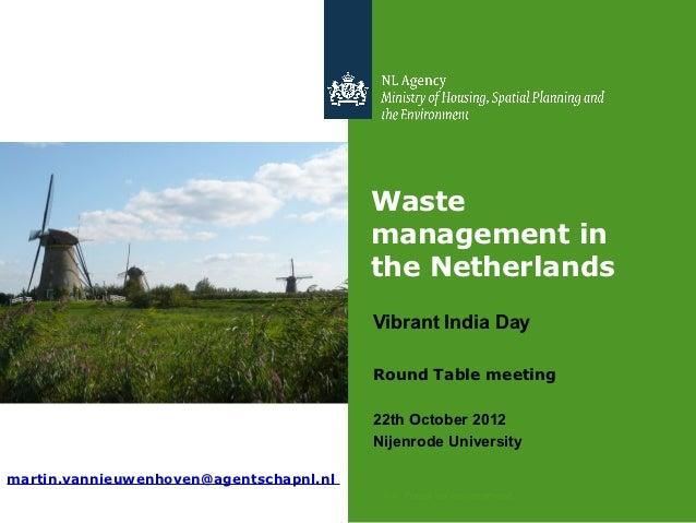 Vibrant India Day - Presentatie Roderik van Nieukerken (round table meeting india)