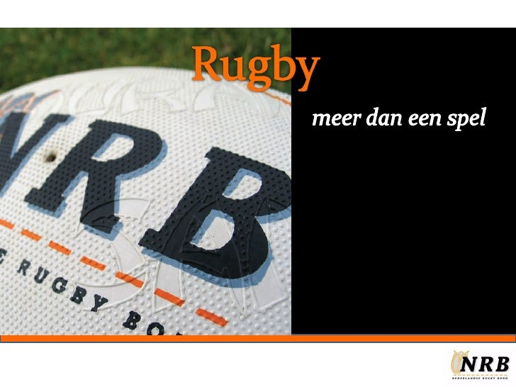 Presentatie Rugby