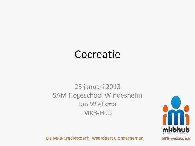 Presentatie cocreatie sam2013 event