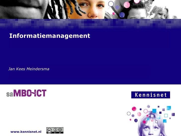 Presentatie sa mbo it hengelo informatiemanagement