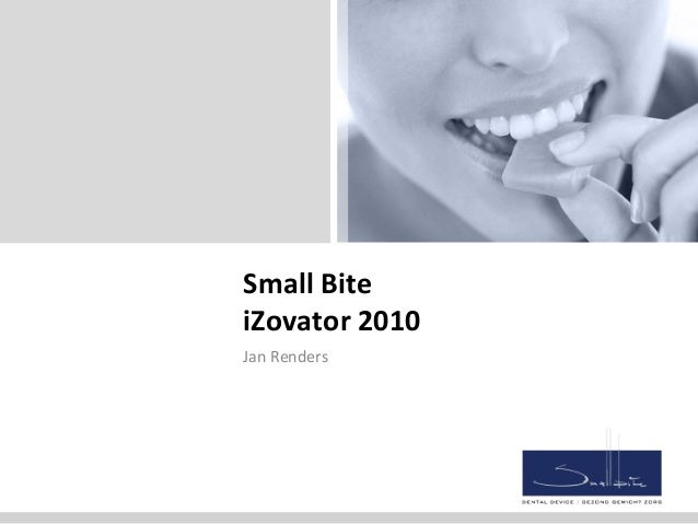 Small Bite iZovator 2010 Jan Renders