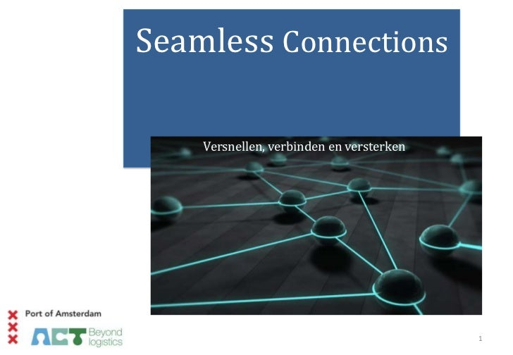 Arthur van Dijk, Seamless Connections, Amsterdam Economic Board, 7-12-2011