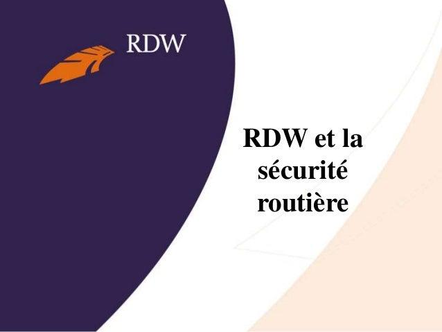 RDW et la sécurité routière