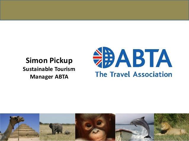 Simon PickupSustainable TourismManager ABTA