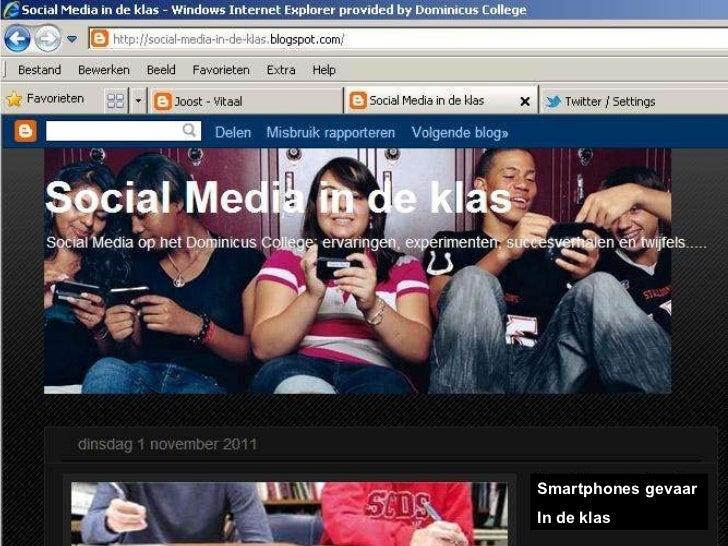 Presentatie Social Media in de klas
