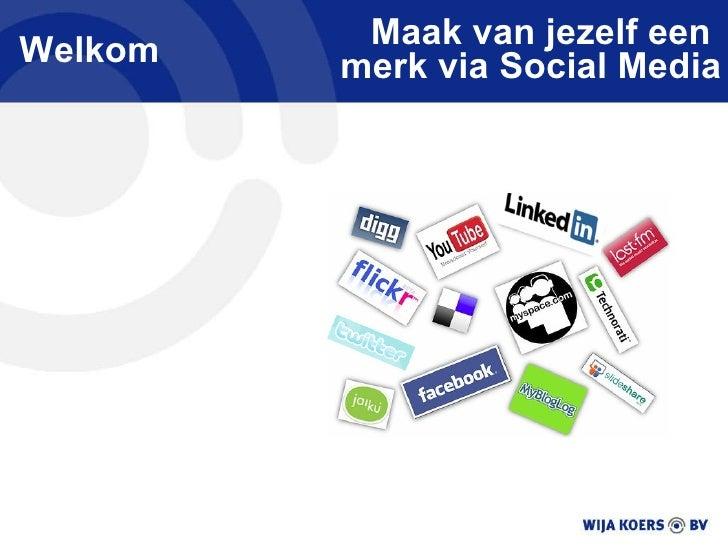 Presentatie Socialmedia