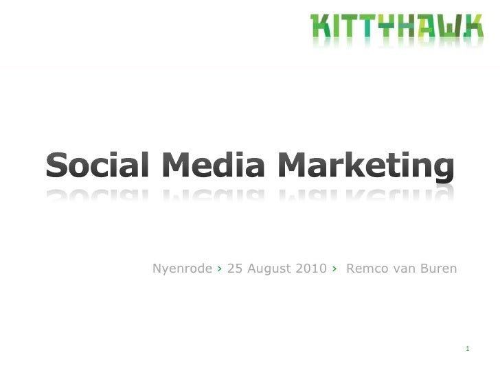 Lecture Nyenrode Social Media Marketing