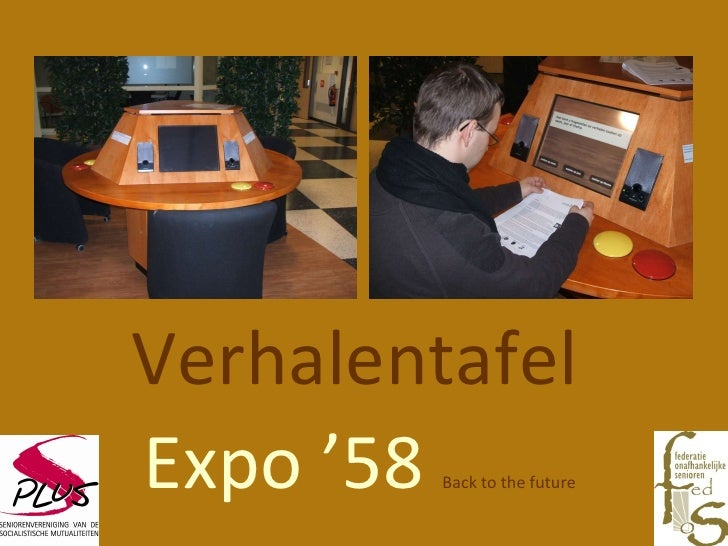 Verhalentafel  Expo '58  Back to the future