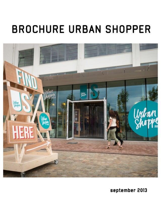 BROCHURE URBAN SHOPPER  september 2013