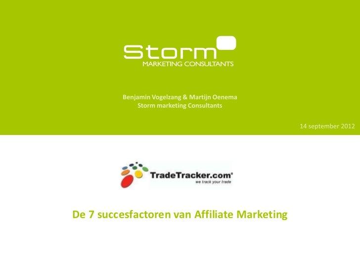 Presentatie StormMC/TradeTracker.com