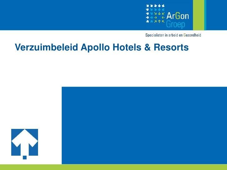 Verzuimbeleid Apollo Hotels & Resorts<br />