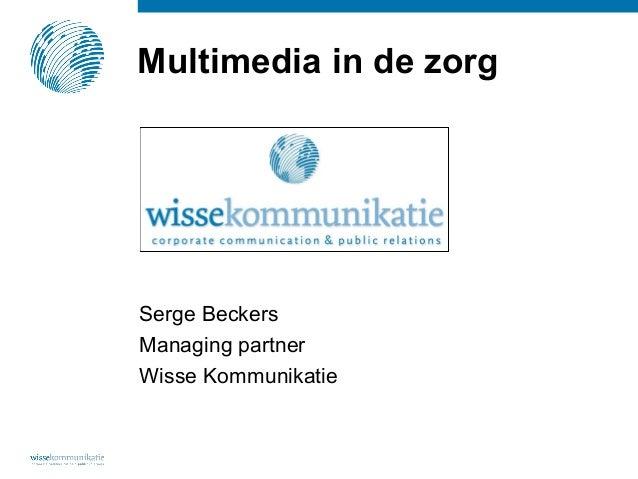 Presentatie V&VN Urologie Serge Beckers