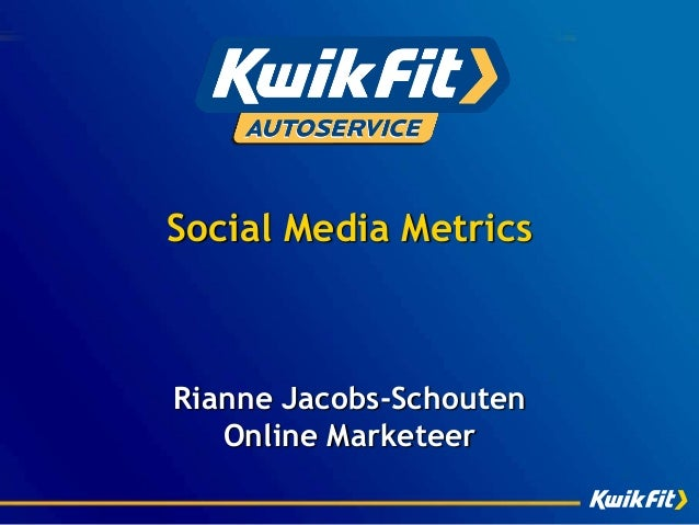 Social Media Metrics - Webanalytics Congres 2013 (#wac13)