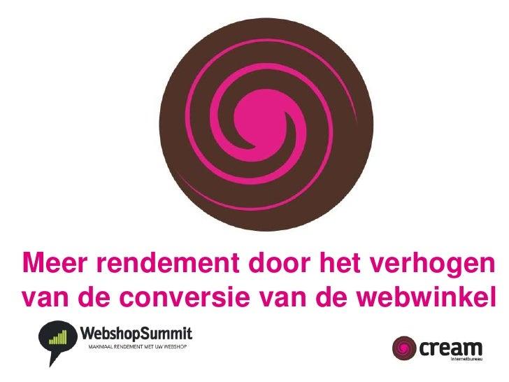 Presentatie webshop summit 2011