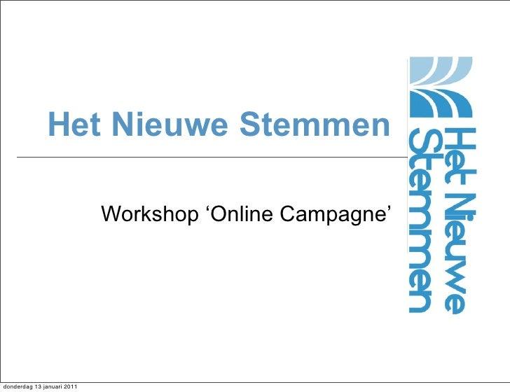 Presentatie Workshop Online Campagne voeren