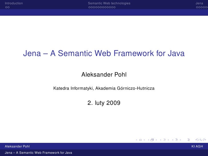 Jena – A Semantic Web Framework for Java