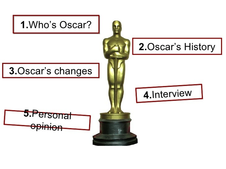 1. Who's Oscar? 3. Oscar's changes 2. Oscar's History 5. Personal opinion 4. Interview