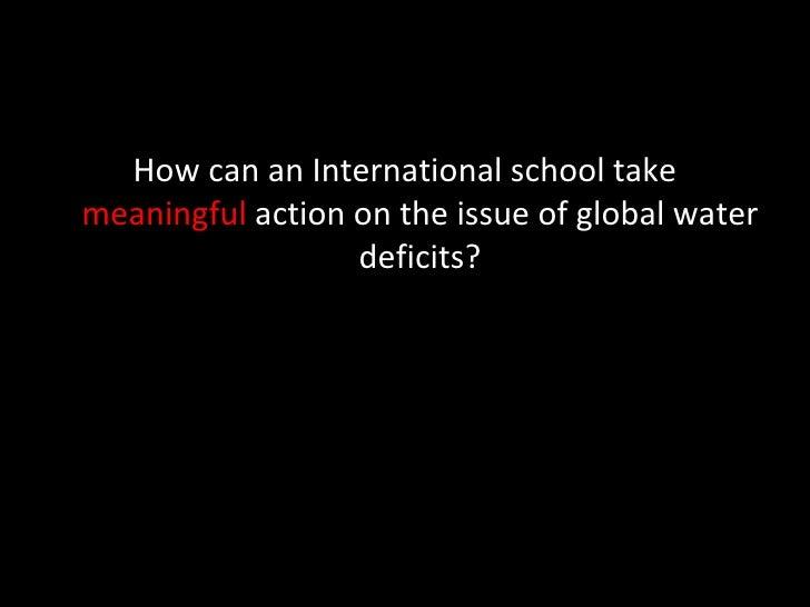 Water Deficits Presentation