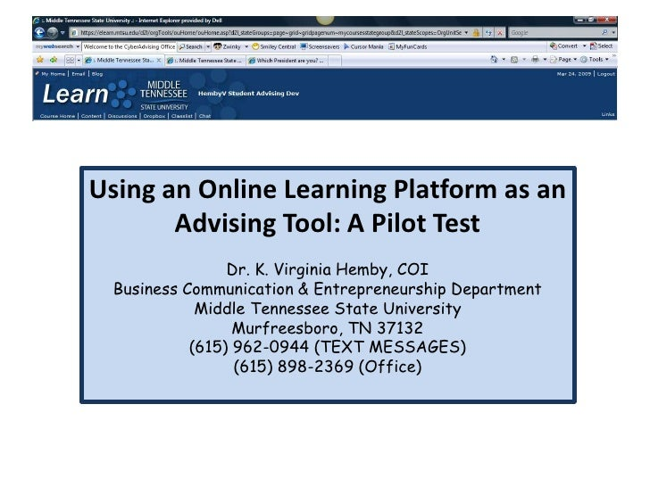 Creating an Alternative Advising System: Using an Online Learning Platform as an Advising Tool