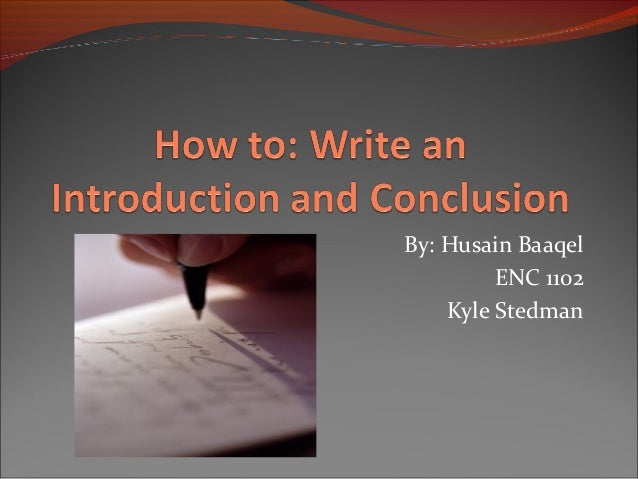 how to  write an introduction and closing paragraph