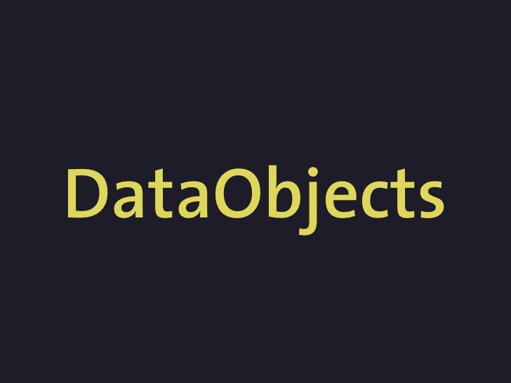 DataObjects