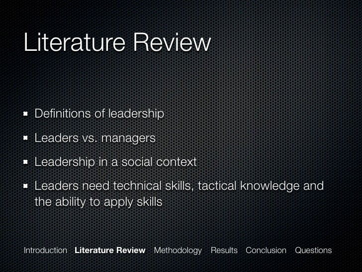 servant leadership and literature review Leadership in research and development organizations: a literature review and conceptual framework teri elkins, robert t keller department of.
