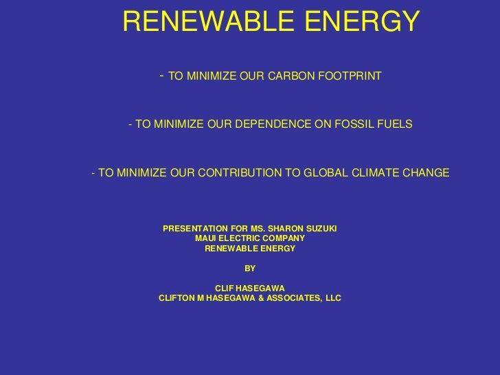Presentation for Maui Electric Company, Ltd.
