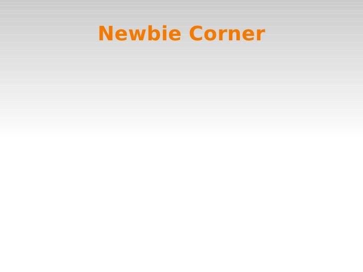 Newbie Corner