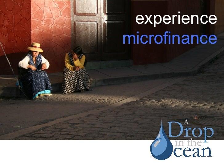 experience microfinance