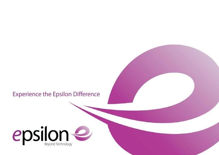 Epsilon Presentation