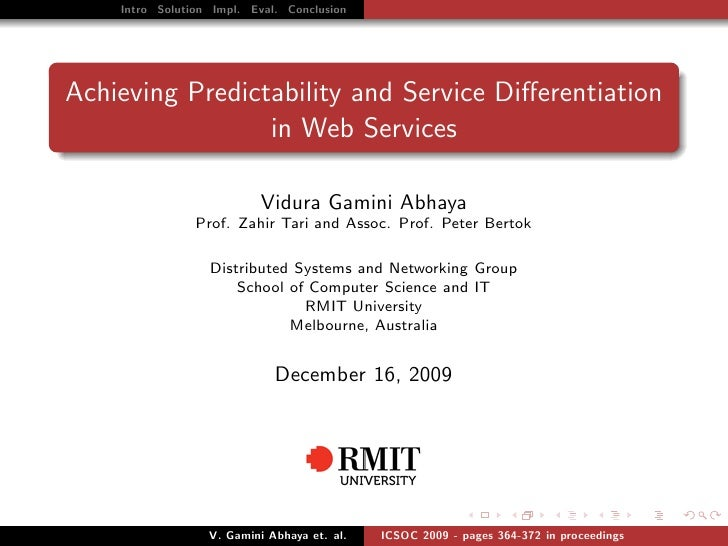 Achieving Predictability and Service Differentiation in Web Services