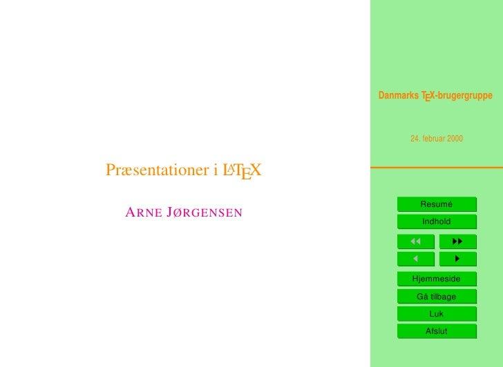 Præsentationer i LaTeX