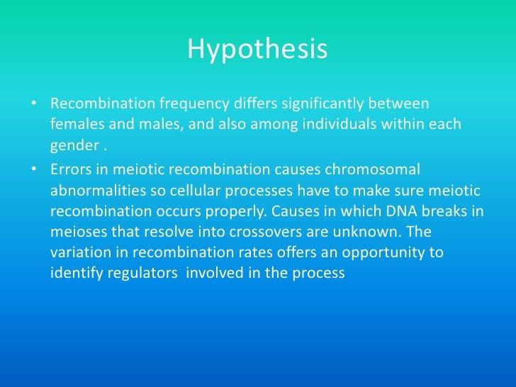 Meiotic Recombination in Meiotic Recombination