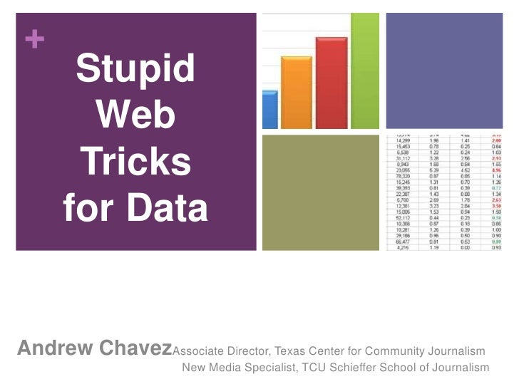 Easy Ways to Display Data for Journalists
