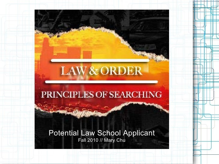 Potential Law School Applicant Fall 2010 // Mary Chu