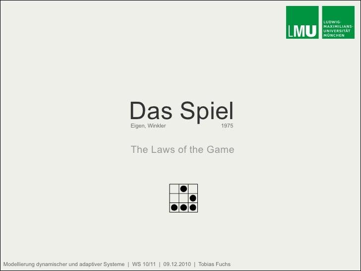 Das Spiel Eigen, Winkler   1975 The Laws of the Game