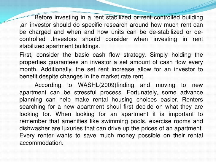 Apartment investing business plan