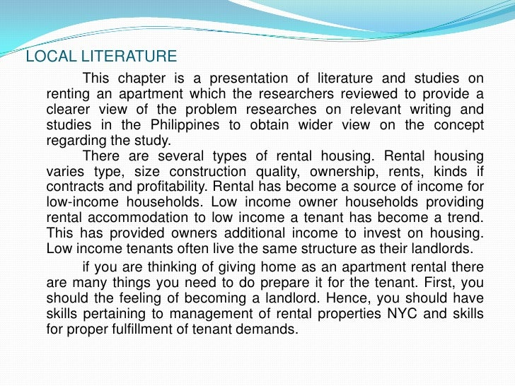 thesis chapter 2 local literature about entrance examination This paper uses extensive library research to support this thesis the following examination of homework centers chapter two: literature review chapter 2.