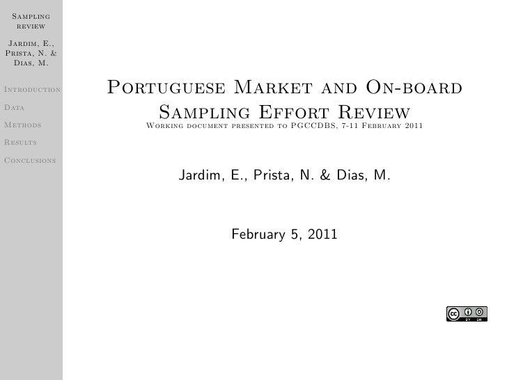 Portuguese Market and On-board Sampling Effort Review
