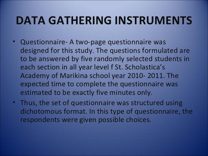 Dissertation data collection instruments